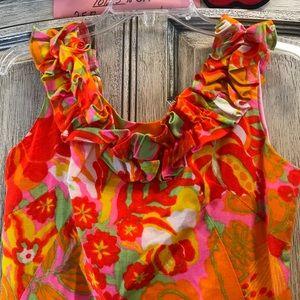 Vintage Dresses - Neon Bright 60's Vintage Mod Twiggy Mini Dress